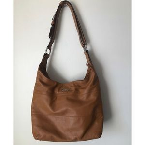 Coach Tan Leather Hobo Shaped Handbag